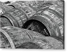 Whisky Barrels Acrylic Print by (C)Andrew Hounslea
