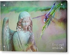 Whisper Of Angel Wings Acrylic Print by Bonnie Barry