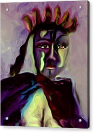 Acrylic Print featuring the painting Whisper by Shelley Bain