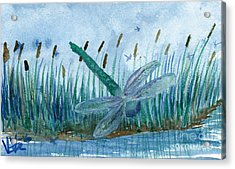 Whispering Cattails Acrylic Print