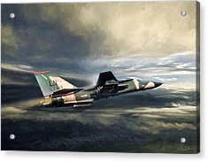 Whispering Death F-111 Acrylic Print by Peter Chilelli