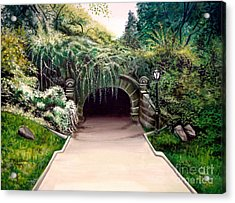 Whispering Tunnel Acrylic Print by Elizabeth Robinette Tyndall
