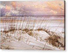 Acrylic Print featuring the photograph Whispers In The Dunes by Debra and Dave Vanderlaan