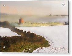 Whispy Winter Landscape Acrylic Print by Aleck Rich Seddon