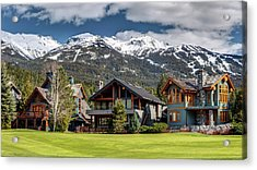 Acrylic Print featuring the photograph Whistler Luxury Homes On Nicklaus North  by Pierre Leclerc Photography