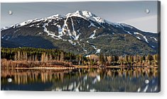 Acrylic Print featuring the photograph Whistler Mountain Reflection Panorama by Pierre Leclerc Photography