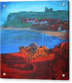 Whitby Bandstand And Smokehouses Acrylic Print by Neil McBride