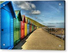 Whitby Beach Huts Acrylic Print