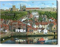 Whitby Harbor North Yorkshire  Acrylic Print