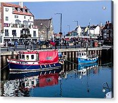 Whitby Harbor, United Kingdom Acrylic Print