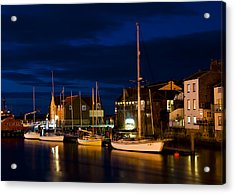 Whitby Harbour Acrylic Print by Svetlana Sewell