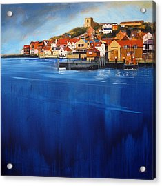 Whitby High Tide Acrylic Print by Neil McBride