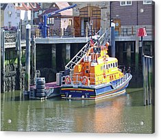 Whitby Lifeboat Acrylic Print by Rod Johnson