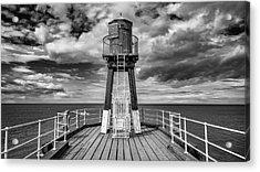 Whitby Pier Acrylic Print by Gillian Dernie