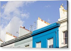 White And Blue Houses Acrylic Print