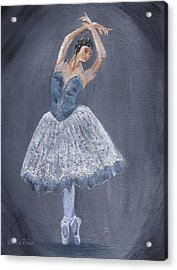 Acrylic Print featuring the painting White Ballerina by Jamie Frier