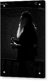 White Beard Acrylic Print by Ralph Vazquez