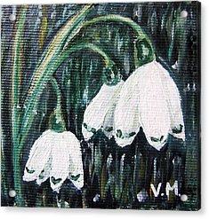 White Bells Acrylic Print by Vesna Martinjak