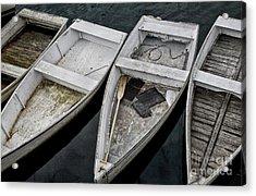 White Boats Acrylic Print