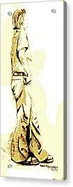 White Boy Standing On Table Acrylic Print by Sheri Buchheit