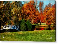 White Bridge Oro Acrylic Print