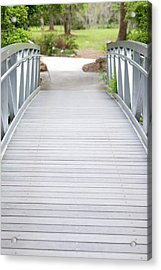 Acrylic Print featuring the photograph White Bridge by Raphael Lopez