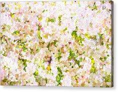 White Bush Acrylic Print