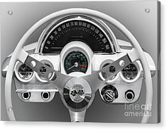 Acrylic Print featuring the photograph White C1 Dash by Dennis Hedberg