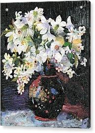 White Celebration Acrylic Print by Nira Schwartz
