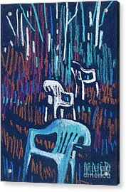 White Chairs Acrylic Print by Donald Maier