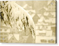 Acrylic Print featuring the photograph White Christmas - Winter In Switzerland by Susanne Van Hulst