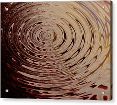 White Circle Acrylic Print by Lorenzo Roberts