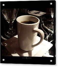 White Cup Acrylic Print