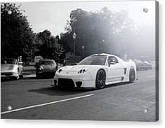 Acrylic Print featuring the photograph White Custom Nsx  by Joel Witmeyer