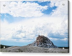 White Dome Geyser Acrylic Print