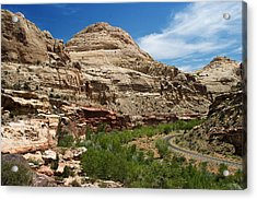 White Domes Acrylic Print by James Marvin Phelps