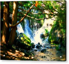 White Falls Acrylic Print by Perry Webster
