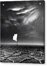 White Flag Acrylic Print by Jacky Gerritsen