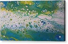 White Flow Acrylic Print