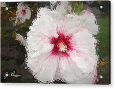 Acrylic Print featuring the painting White Flower by Joan Reese