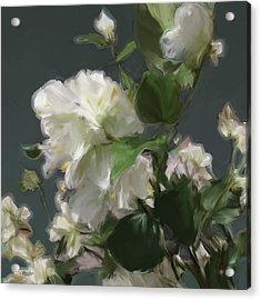 White Flowers 103 Acrylic Print