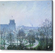 White Frost Jardin Des Tuileries Acrylic Print