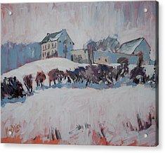White Hill Zonneberg Maastricht Acrylic Print