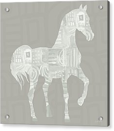 White Horse 1- Art By Linda Woods Acrylic Print