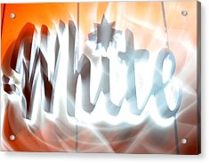 White Hot Acrylic Print