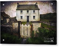 Acrylic Print featuring the photograph White House Of Aran Island by Craig J Satterlee