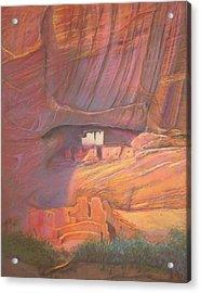 White House Rock  Home Of He Anasazi He Anasazi Acrylic Print by Pamela Mccabe