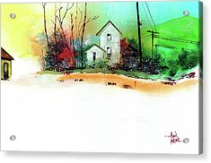 White Houses Acrylic Print by Anil Nene