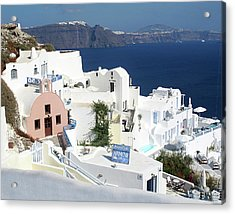 White Houses Of Oia Acrylic Print