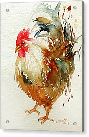 White Knight Rooster Acrylic Print